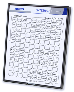 Enterpad with manuscript overlay